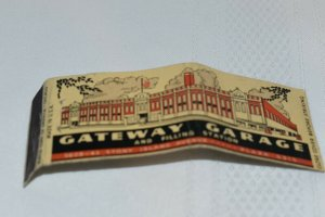 Gateway Garage and Filling Station Chicago Illinois 20 Strike Matchbook Cover