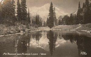 RP: Mt. Rainer & Mirror Lake , Washington , 1930-40s ; ELLIS 490