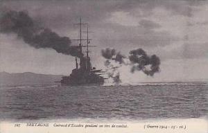 France Bretagne Cuirasse d'Escadre pendant ses tirs de combat