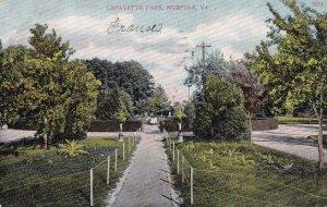 Lafayette Park , NORFOLK , Virginia ; PU-1908