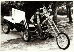 Mortician From Hell Steve Bonge on Coffin Chopper Motorcycle Postcard