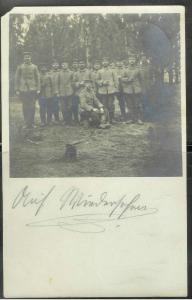 1915 Germany, soldiers, no caption, feldpost cancel