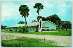 Port Charlotte Florida~First Christian Church~Palm Trees in Front Yard~1970
