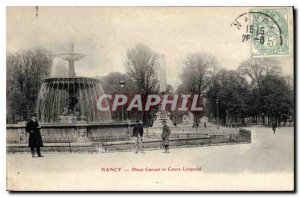 Old Postcard Nancy Place Carnot Learning Leopold