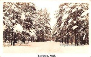 Winter Scene in Lewiston, Michigan