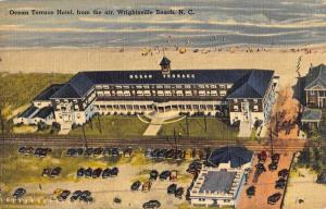 Wrightsville Beach North Carolina Ocean Terrace Hotel Antique Postcard K46765