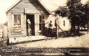 F52/ Notch Missouri RPPC Postcard c1940s Post Office Uncle Ike