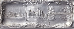 VICTORIA, B.C., 1900-10s; Souvenir METAL plaque, C.P.R.S.S Princess Victoria,...
