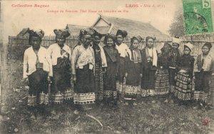 Laos Indochine Groupe de Femmes Thai Neuas en costume de fete 03.77