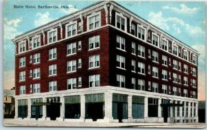 Bartlesville, Oklahoma Postcard MAIRE HOTEL Street View w/ 1922 Cancel