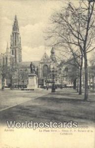 Anvers, Belgium, België, la Belgique, Belgien Statue PP Rubens et la Cathedr...