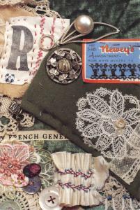 Vintage Sewing Postcard, Renee's Red Vintage Quilts U13