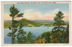 Blue Ridge Mountain, Moosehead Lake and Moose River, Maine