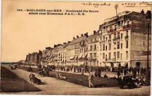 CPA Boulogne sur Mer -Boulevard Ste Beuve allant vers Wimereux (129920)