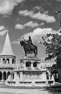 Hungary Budapest Fisher's Bastion with St. Stepehns Monument Statue