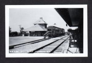 VT Shelburn Railroad train Station Depot Vermont Real Photo RPPC Postcard