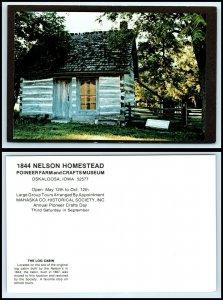 IOWA Postcard - Oskaloosa, Pioneer Farm, Nelson Homestead, The Log Cabin F40