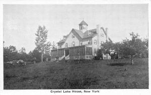 Crystal Lake House, New York, Early Postcard, Unused