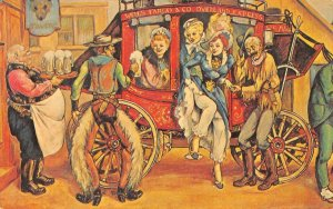 Journey's End LUCKY CASINO Las Vegas, NV Stagecoach Cowboys Vintage Postcard