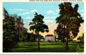 Kansas Lawrence Campus View From Blake Hall University Of Kansas Curteich