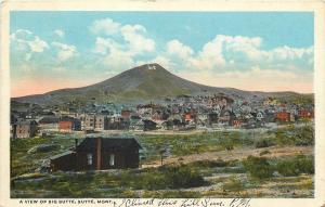 Butte Montana~Panorama of Big Butte~Houses~Cabins~Buildings~1917 Postcard