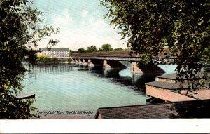 Massachusetts Springfield The Old Toll Bridge 1908
