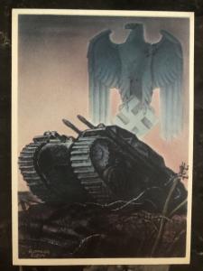 1941 Zagreb Germany Patriotic Postcard cover Jagdpanzer Wehrmacht WW2