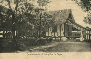 indonesia, CELEBES SULAWESI SEGÉRI, Landraadzaal en Pasangrahan (1899) Postcard