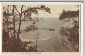 Somerset; Old Pier From The Woods, Weston Super Mare PPC, 1939 Road User PMK