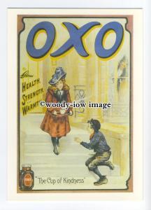 ad0676 - Oxo - Girl Sharing A Mug Of Oxo With poor Boy -  Modern Advert Postcard