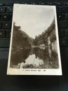 Antique Photo Postcard RPPC-  A Placid Stream, Fiji
