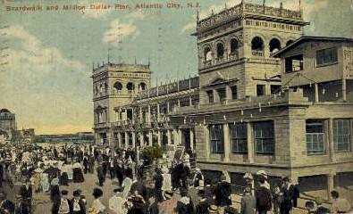 Boardwalk and Million Dollar Pier Atlantic City NJ 1912