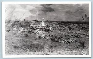 Postcard AZ Tombstone Sectional View Boothill Cemetery Real Photo RPPC K23