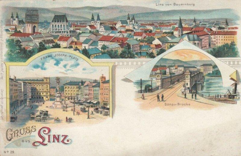 Gruss aus LINZ , Austria , 1890s