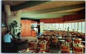 Oceanlake, Oregon Postcard HENRY THIELE RESTAURANT Ebb Tide Room Bar c1960s