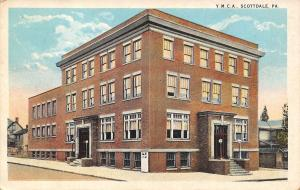 Scottdale Pennsylvania~YMCA~Doors on Both Sides~Houses~1930 Postcard