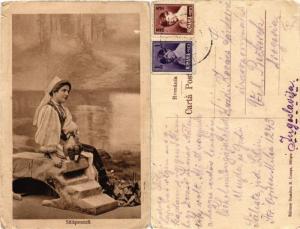 CPA AK folklore Salisteanca ROMANIA (504560)