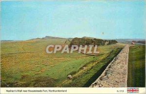 Modern Postcard Hadrian's Wall near Housesteads Fort Northumberland