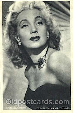 Ann Sothern Trade Card Actor, Actress, Movie Star, Postcard Post Card Actor A...