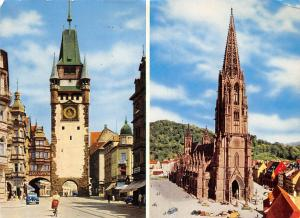 Freiburg Schwarzwald, The Cathedral and the St Martin's Portal Muenster