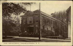 Cornwall on Hudson NY Fire Dept c1910 Postcard