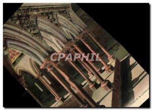 Old Postcard Mont Saint Michel cloister Detail of the colonnade