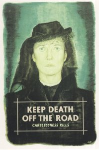 Keep Death Off The Road Disaster Book Poster Advertising Postcard