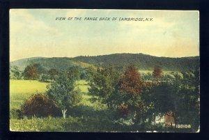 Cambridge, New York/NY Postcard, View Of The Range Back, 1910!