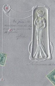 Art Nouveau Female profile , 1904