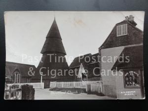 Kent: Brookland Church Old RPPC by G A Cooper shows SHOP & FRYS CHOCOLATE ADVERT