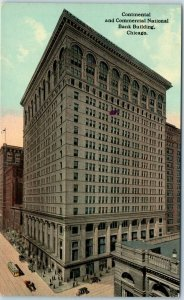 1910s Chicago Postcard Continental & Commercial National Bank Building Unused