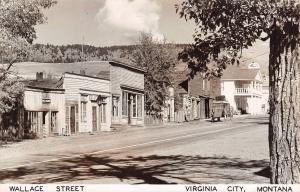 Virginia City Montana~Wallace Street~Dress Maker Shop~Fairweather Inn~1950 RPPC