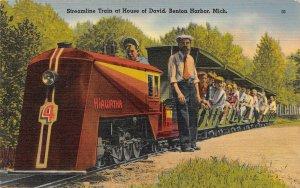 LPM10 Miniature Train Benton Harbor House of David   Michigan Postcard