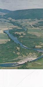 Aerial View Margaree Valley, Margaree River Famous For Salmon Fishing Cape Br...